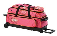 Columbia Team C300 3 Ball Roller Pink/Orange Bowling Bags