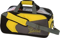 Track Premium Player 2 Ball Tote Yellow/Grey Bowling Bags