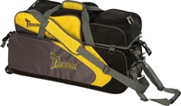 Track Premium Player 3 Ball Tote Yellow/Grey Bowling Bags