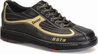 Dexter Mens SST 8 Black/Gold Right Hand or Left Hand Bowling Shoes