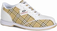 Dexter Womens Ana White/Tan Plaid Bowling Shoes