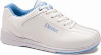 Dexter Womens Raquel IV White/Blue Wide Width