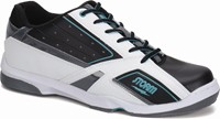 Storm Mens Blizzard White/Black/Teal Right Hand Bowling Shoes