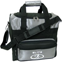 Elite Impression Single Tote Silver/Black Bowling Bags