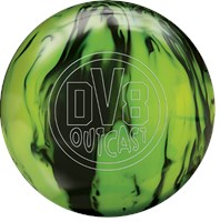 DV8 Outcast Black Citron with Free Bag Bowling Balls
