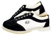 Linds Womens EXXXTRA 2 Black/White Right Hand Bowling Shoes