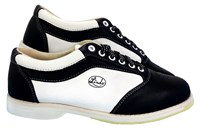 Linds Mens EXXXTRA 2 Black/White Right Hand Wide Bowling Shoes