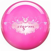 Storm Pink Clear Polyester Bowling Balls