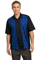Port Authority Retro Camp Shirt Black/Blue