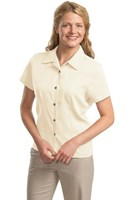Port Authority Womens Easy Care Camp Shirt Ivory