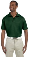 Harriton Mens 4 oz Polytech Polo Green
