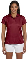 Harriton Womens 4 oz Polytech Polo Maroon