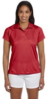 Harriton Womens 4 oz Polytech Polo Red