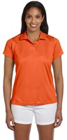 Harriton Womens 4 oz Polytech Polo Orange