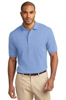 Port Authority Mens Pique Knit Sport Light Blue
