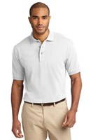 Port Authority Mens Pique Knit Sport White