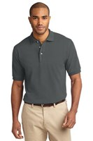 Port Authority Mens Pique Knit Sport Steel Grey