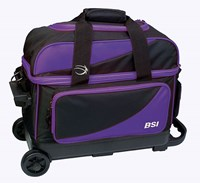 BSI Prestige Double Ball Roller Purple/Black Bowling Bags