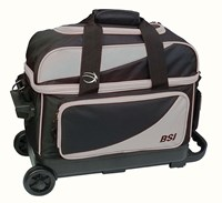 BSI Prestige Double Ball Roller Grey/Black Bowling Bags