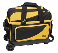 BSI Prestige Double Ball Roller Yellow/Black Bowling Bags