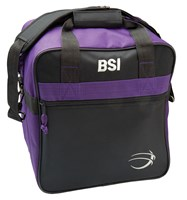 BSI Solar II Single Tote Black/Purple Bowling Bags