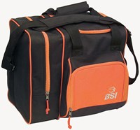 BSI Deluxe Single Tote Black/Orange Bowling Bags