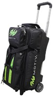 Motiv Deluxe Triple Roller Black/Green Bowling Bags