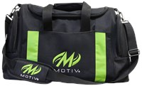 Motiv Deluxe Double Tote Black/Green Bowling Bags