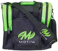 Motiv Ascent Single Tote Black/Green Bowling Bags