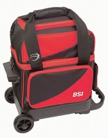 BSI Prestige 1 Ball Roller Black/Red Bowling Bags