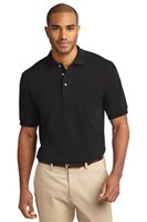 Port Authority Mens Pique Knit Sport Black