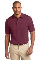 Port Authority Mens Pique Knit Sport Burgundy