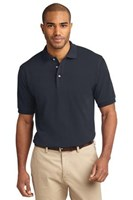 Port Authority Mens Pique Knit Sport Classic Navy