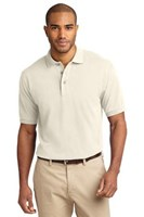 Port Authority Mens Pique Knit Sport Ivory