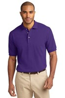 Port Authority Mens Pique Knit Sport Purple