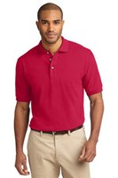 Port Authority Mens Pique Knit Sport Red