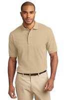 Port Authority Mens Pique Knit Sport Stone