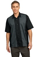 Port Authority Retro Camp Shirt Black/Steel Grey