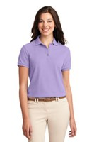 Port Authority Womens Silk Touch Polo Shirt Lavender