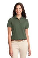 Port Authority Womens Silk Touch Polo Shirt Clover Green
