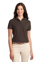 Port Authority Womens Silk Touch Polo Shirt Coffee Bean