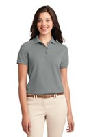 Port Authority Womens Silk Touch Polo Shirt Cool Grey