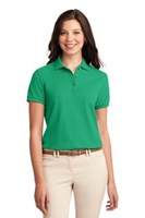 Port Authority Womens Silk Touch Polo Shirt Court Green