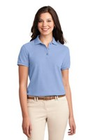 Port Authority Womens Silk Touch Polo Shirt Light Blue