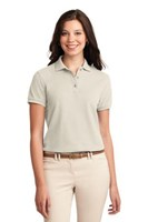 Port Authority Womens Silk Touch Polo Shirt Light Stone