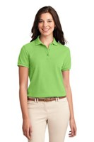 Port Authority Womens Silk Touch Polo Shirt Lime
