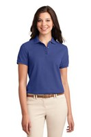 Port Authority Womens Silk Touch Polo Shirt Mediterranean Blue