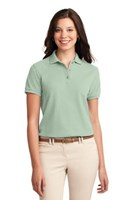 Port Authority Womens Silk Touch Polo Shirt Mint Green