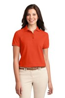 Port Authority Womens Silk Touch Polo Shirt Orange
