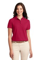 Port Authority Womens Silk Touch Polo Shirt Red